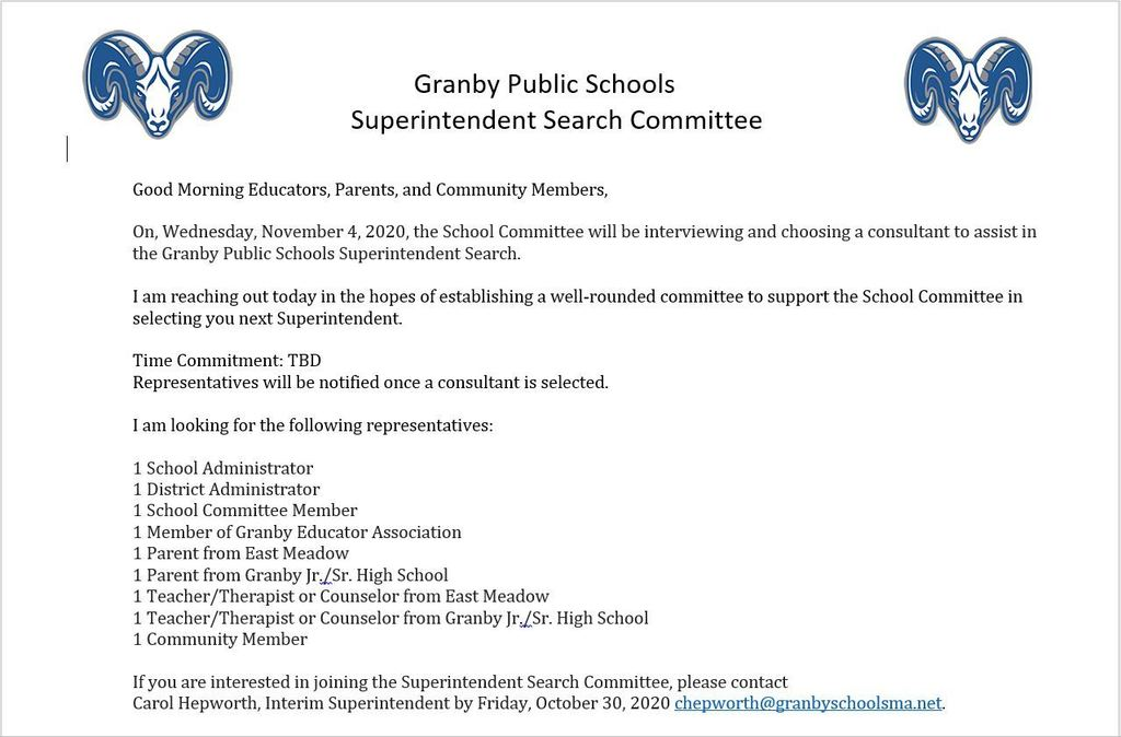 Superintendent Search Committee