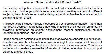 What are DESE Report Cards?
